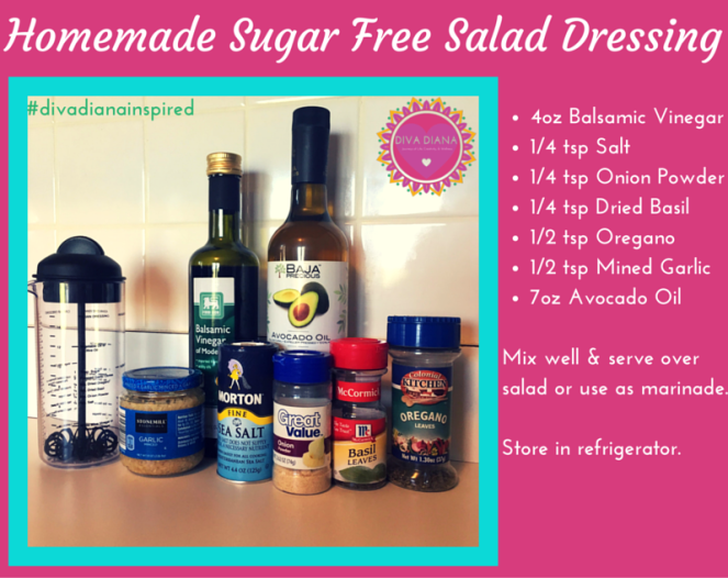 Homemade Sugar Free Salad Dressing