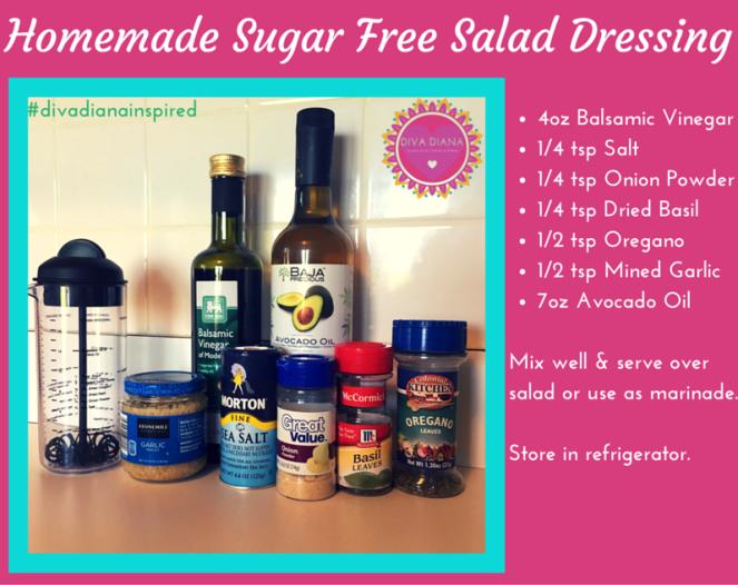 Homemade Sugar Free Salad Dressing
