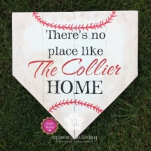 z Completed Custom theres no place like the collier home home plate baseball (1)