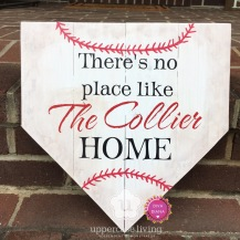z Completed Custom theres no place like the collier home home plate baseball (3)