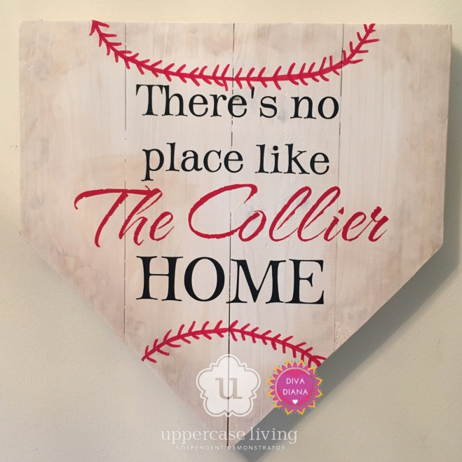 z Completed Custom theres no place like the collier home home plate baseball